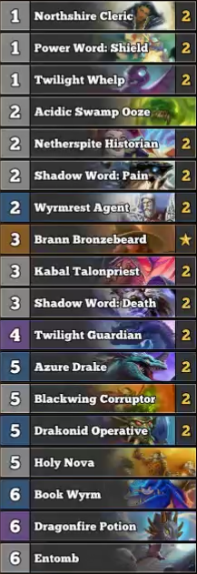 Dragon Priest 1.3 priest Decklist