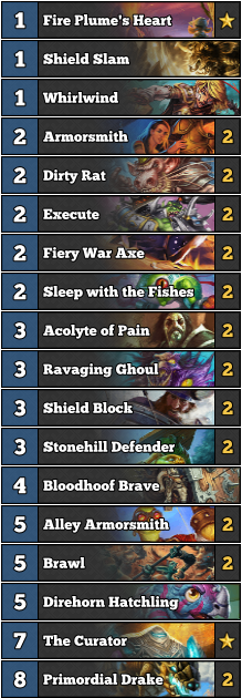 Dreamhack Austin 2017 - Quest Warrior warlock Decklist