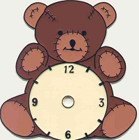 Bear with clock